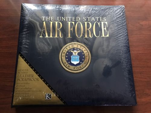 Air Force leather bound scrapbook