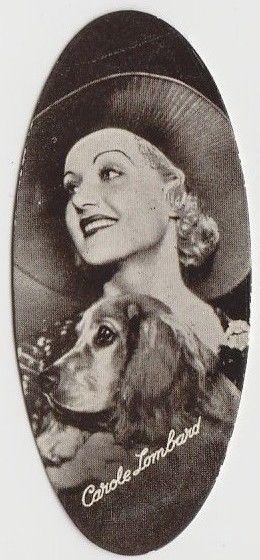 Carole Lombard 1934 Carreras Film Stars Oval Tobacco Card #4
