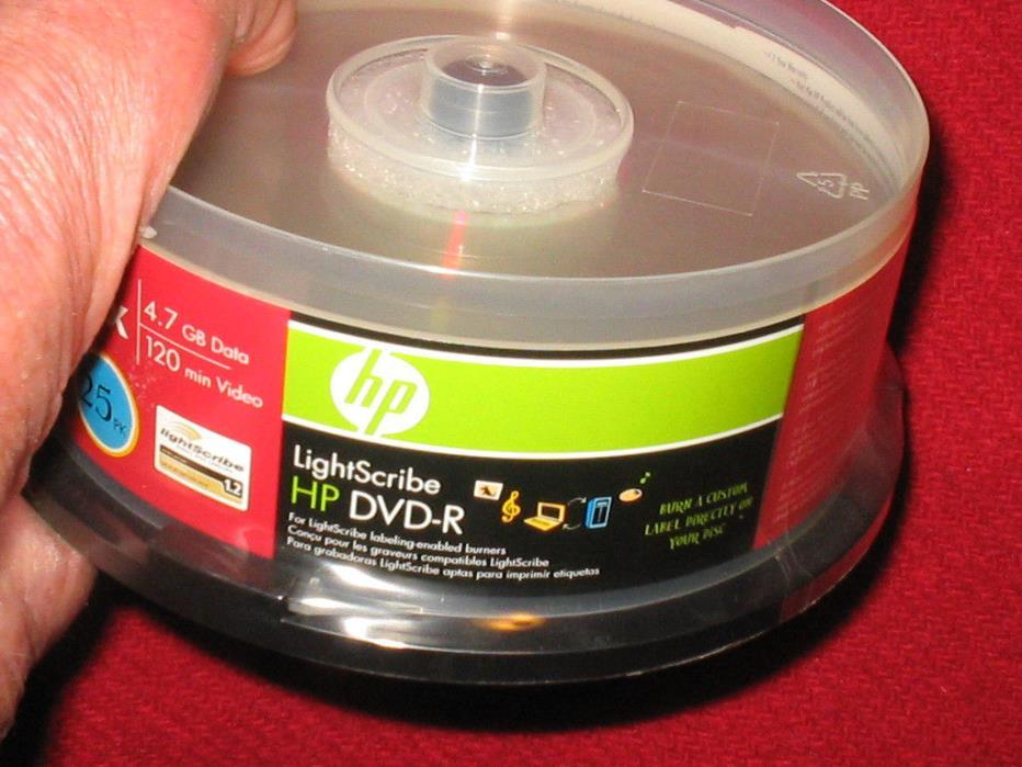 HP  Lightscribe  DVD-R   16x  4.7 GB   25 pack