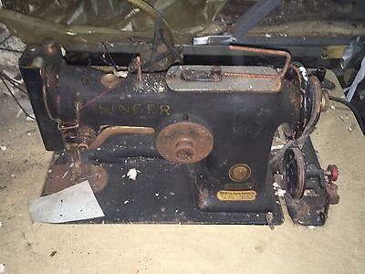 Antique Vinage Salvaged Singer Sewing Machine 107W