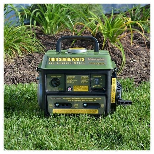 Gasoline 1000 Surge Watt Portable Generator Ideal Size for Hunters and Campers