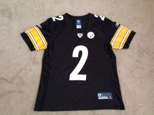 NFL Pittsburgh Steelers #2 Condensin On Field Black Jersey Sz Womens Medium