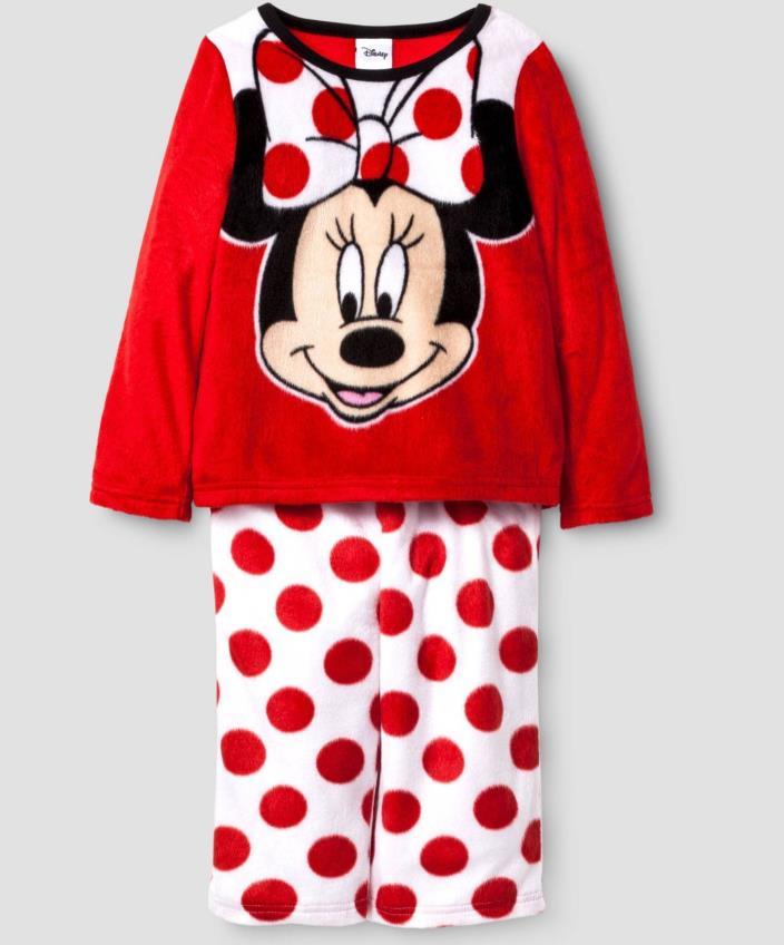 Minnie Mouse Girls Fleece Pajamas NWT Disney 2T 3T 4T or 5T