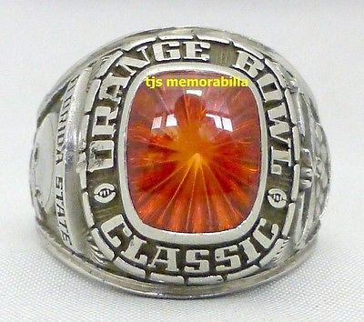 1980 FLORIDA STATE FSU SEMINOLES ORANGE BOWL CHAMPIONSHIP RING