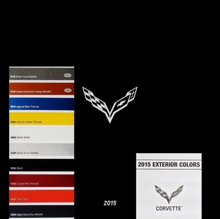 CORVETTE STINGRAY 2015 - BOOK BROCHURE + PAINT CHART - CHEVROLET - Z51 LT1 COUPE