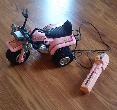 1980s Barbie RC Remote Control Pink ATV 3-Wheeler for Barbie Dolls Works!