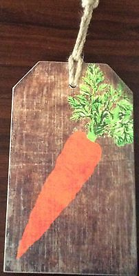 NEW PRIMITIVE CARROT WALL DOOR HANGING ORNAMENT EASTER SPRING DECOR