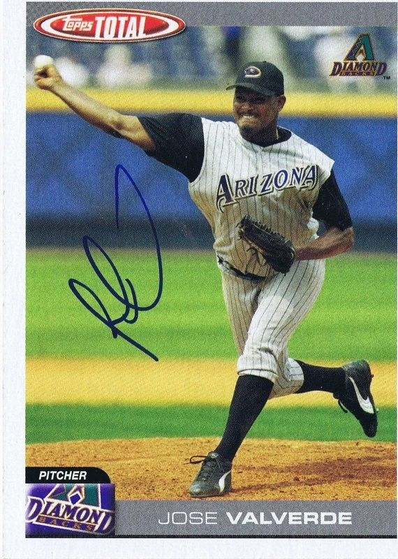 Jose Valverde 2004 Topps Total Autograph #36 Diamondbacks