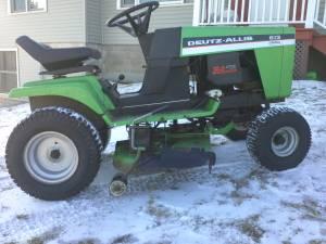 Allis garden tractor/simplicity snowblower (shell lake)