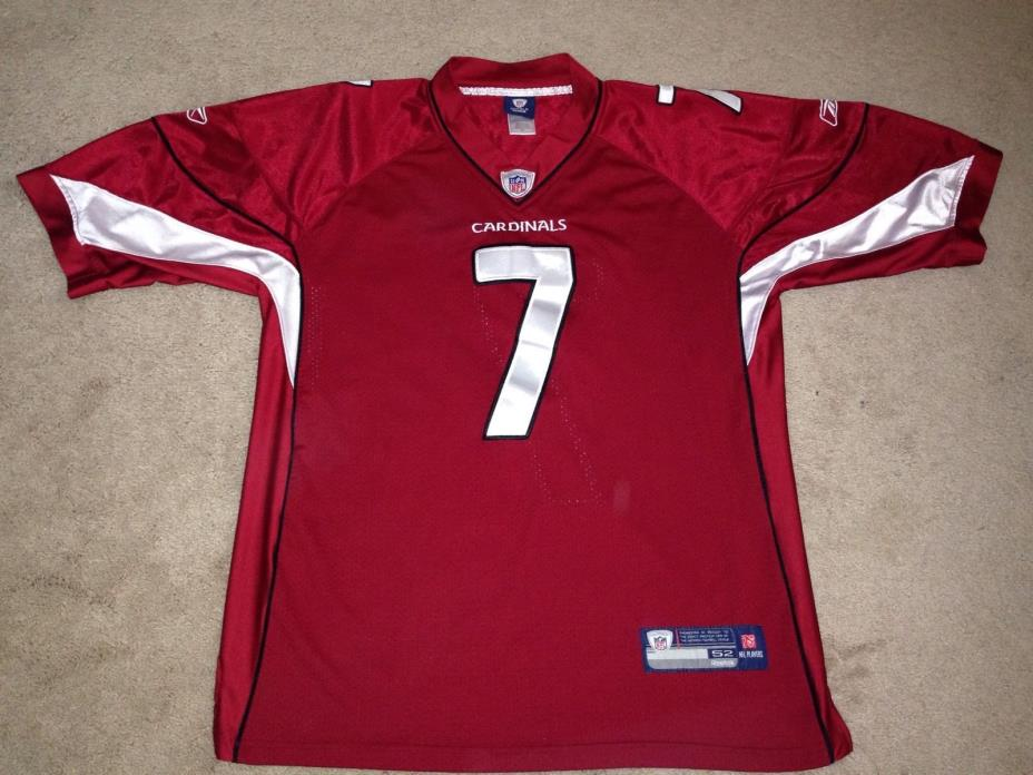 NFL Arizona Cardinals #7 Blank On Field Reebok Jersey Mens Sz 52 SEWN