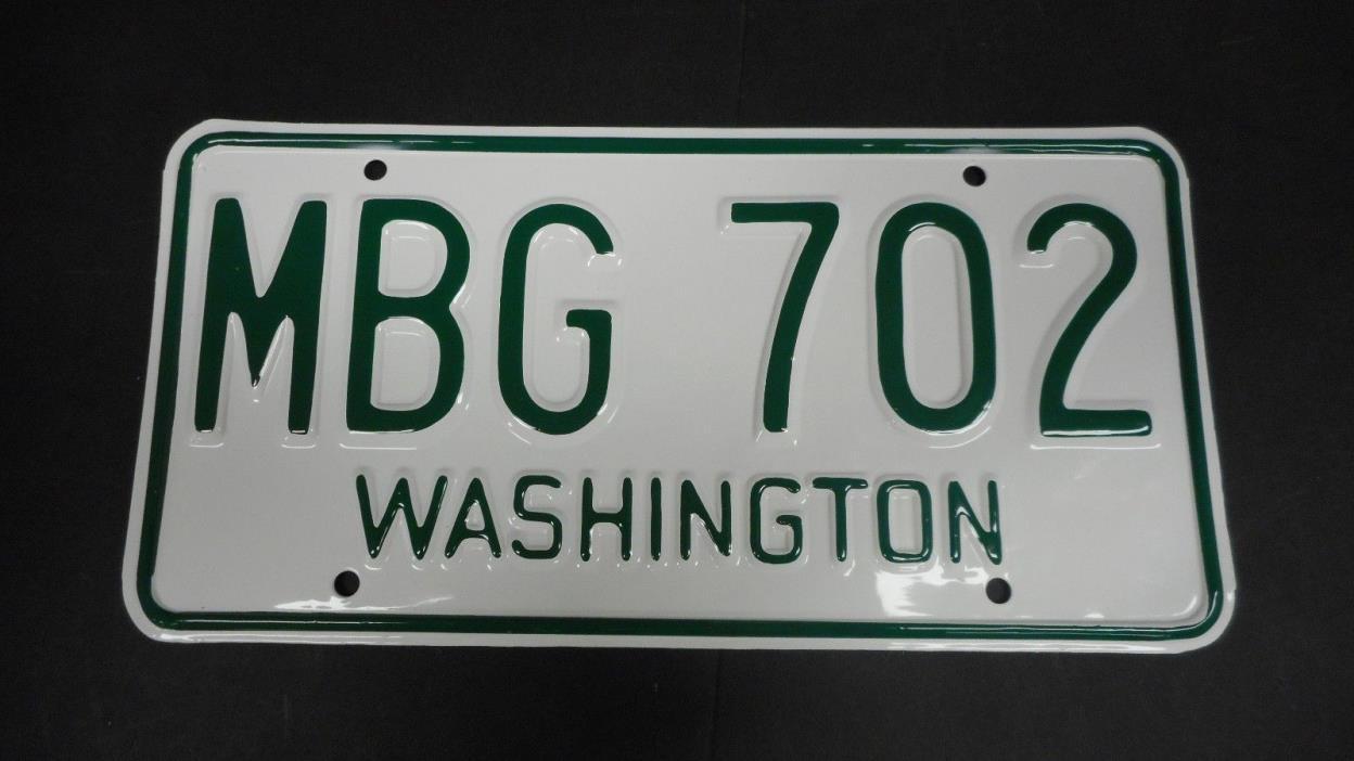 1966 67 Washington Restored License Plate MBG 702