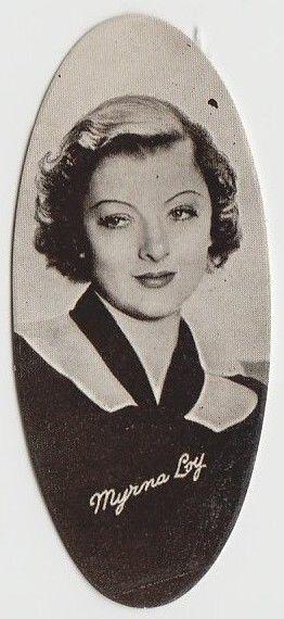 Myrna Loy 1934 Carreras Film Stars Oval Tobacco Card #7