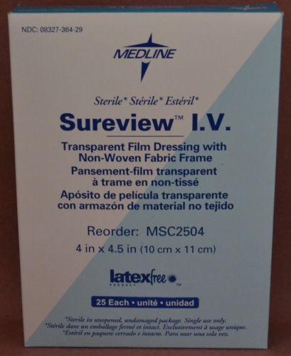 Sureview I.V. Transparent Film Dressing Non-Woven Frame MSC2504 4