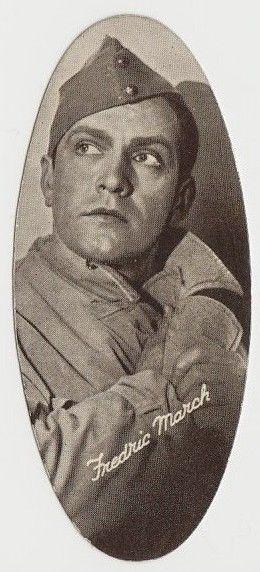 Fredric March 1934 Carreras Film Stars Oval Tobacco Card #1