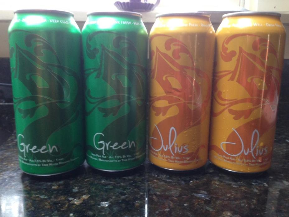 TREE HOUSE BREWING beer 2 cans of Green and 2 cans of Julius treehouse