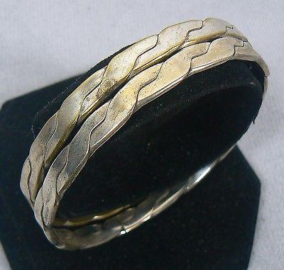 2 Sterling Silver Mexico .925 Bangle Bracelets