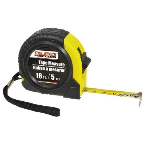 Tool Bench Hardware Tape Measures, 16 ft.