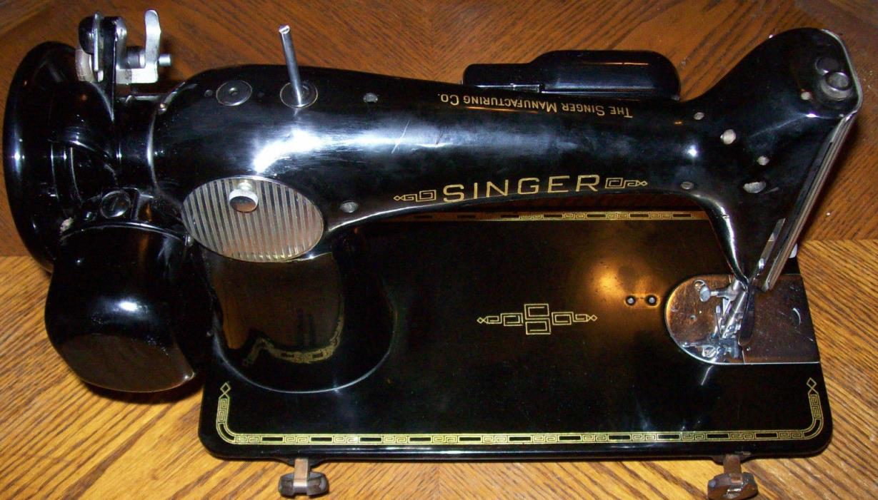 1950s SINGER  201 Vintage Sewing Machine Heavy Duty