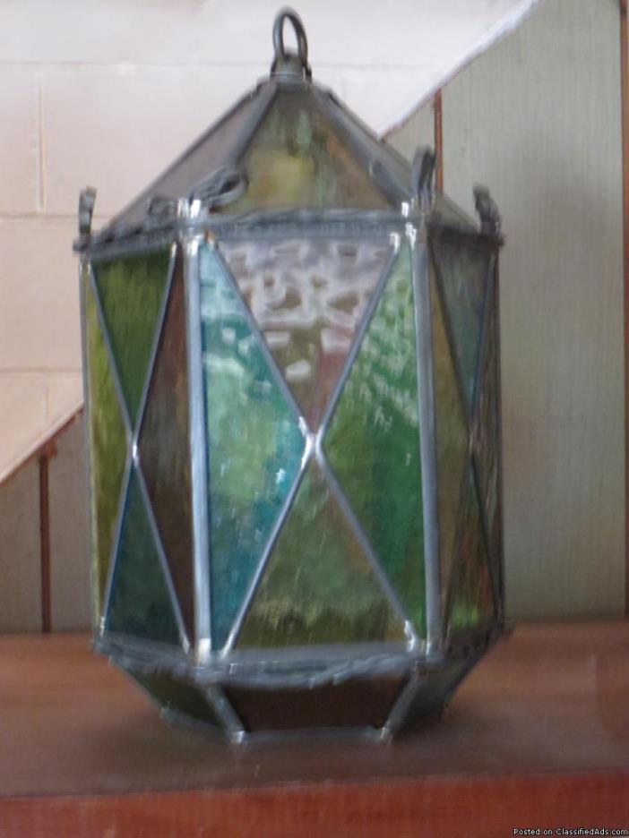 Cut glass light fixtures