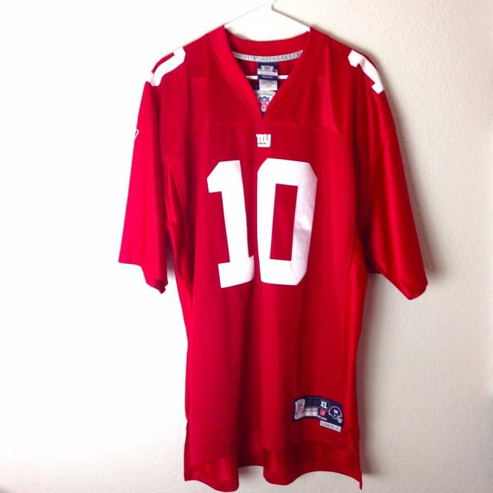 REEBOK MENS NFL EQUIPMENT JERSEY NY GIANTS MANNING 10 SIZE XL +2 LENGTH SEWN