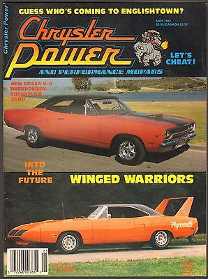 MAY 1988 CHRYSLER POWER MAGAZINE 1970 ROAD RUNNER, CHARGER DAYTONA