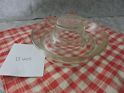 Vintage Glass Chicken/Poultry Watering Base