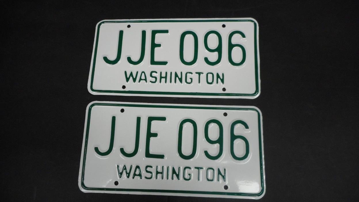 1966 67 Washington Pair Restored License Plates JJE 096