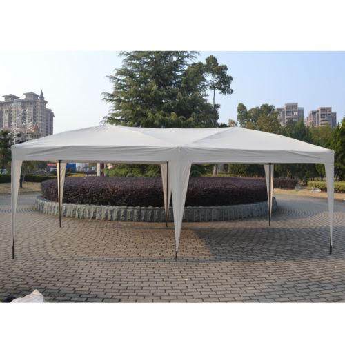 10'X20' EZ POP UP Gazebo Wedding Party Tent Folding Canopy Carry Bag White