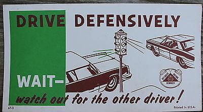 NOS Vintage 67 Nabisco Defensive Driving Reminder Sticker Drive Defensively USA