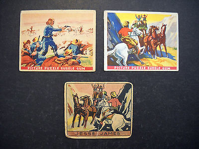 1937 WILD WEST CARDS #6 JESSE JAMES #14 CUSTER'S Last Stand & JESSE JAMES #212