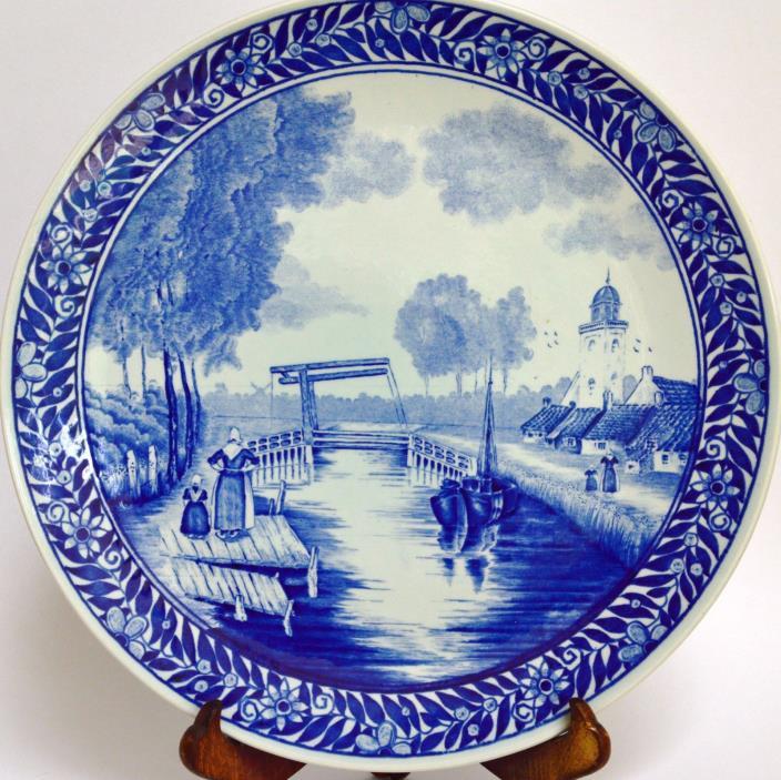 Vintage Boch Blue Delft Belgium 11.25