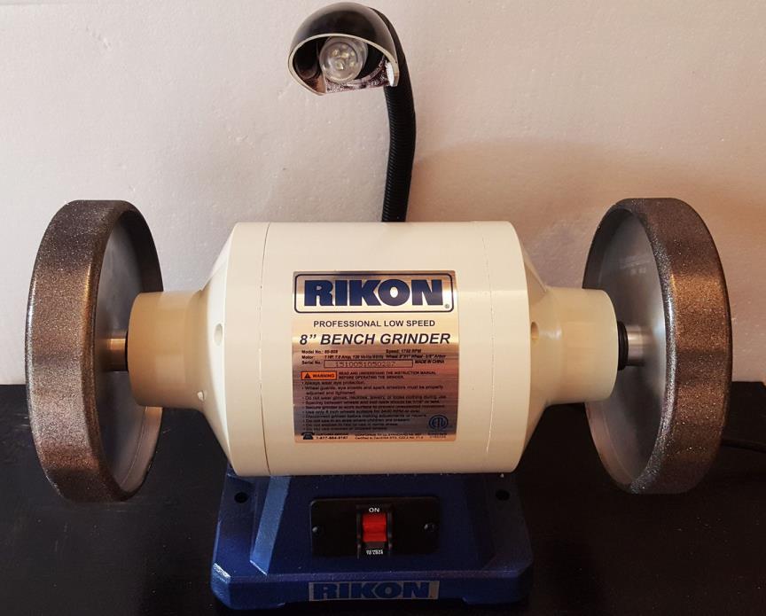 Rikon Grinder 1hp with 2 Radius Edge CBN wheels / 180 + 600 grits