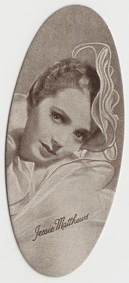 Jessie Matthews 1934 Carreras Film Stars Oval Tobacco Card #22