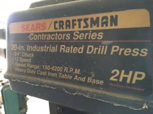 Craftsman drill press (Sutton)