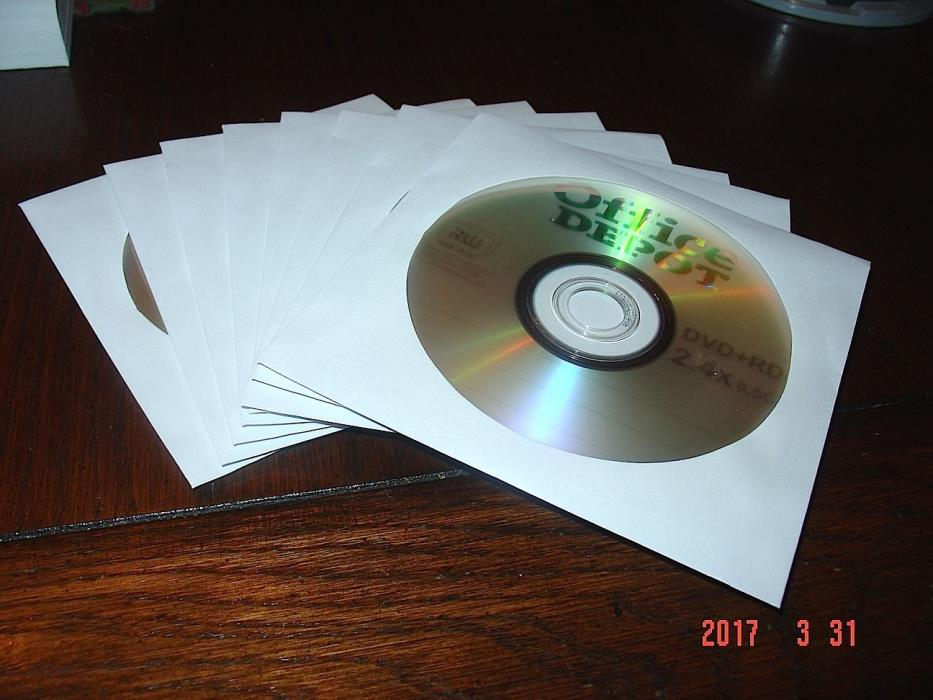 8 PCS DVD+ RDL Blank Dual Layer DVD Discs 8.5 GB in Sleeves Office Depot Brand