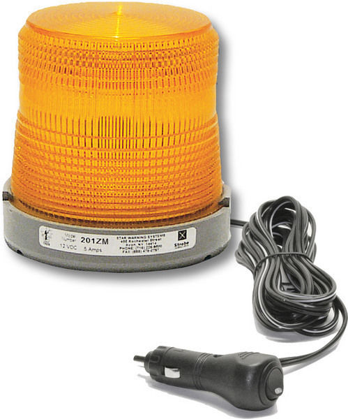 Amber Magnet Mount Strobe Beacon Emergency Vehicle Flashing Warning Roof Light