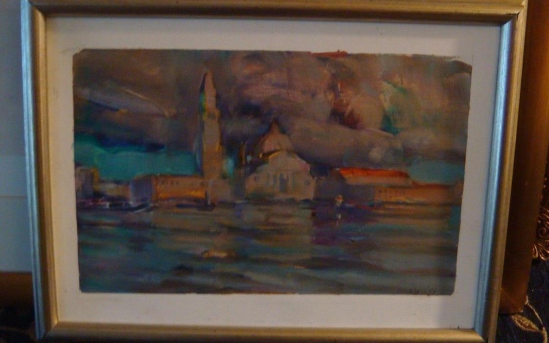 Original Painting Armando Morales VENICE 1987