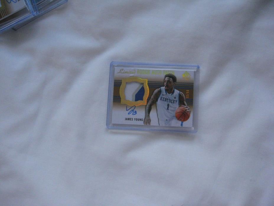 2014-15 Upperdeck SP James Young ROOKIE Auto/Patch Card #33 of 50 Limited