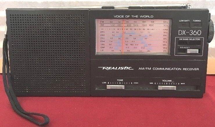 Vintage Realistic DX-360 AM/FM/LW/Short Wave 9-Band Tested Working