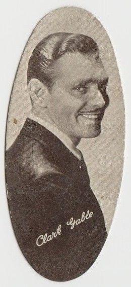 Clark Gable 1934 Carreras Film Stars Oval Tobacco Card #2