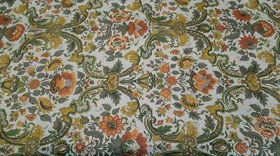 Heavy Vintage Victorian print fabric - tablecloth, upholstery, crafts costuming