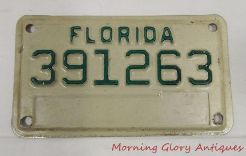 Florida Motorcycle License Plate