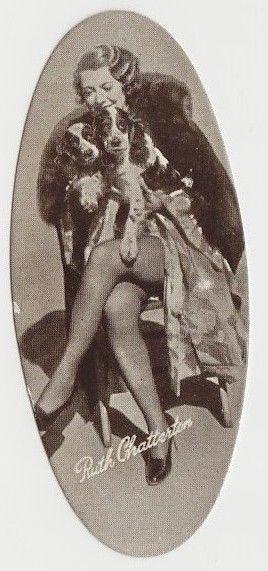Ruth Chatterton 1934 Carreras Film Stars Oval Tobacco Card #15