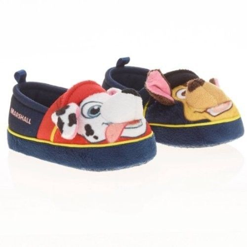 PAW PATROL Chase & Marshall SLIPPERS toddler size M  7/8 NEW