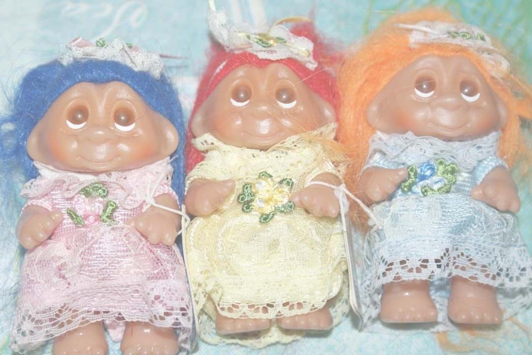 Norfin Troll Dam Doll Bridesmaid Wedding Lace 1986 NEW