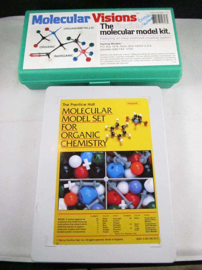 The Prentice Hall 1984   Molecular Set  Organic Chemistry & Molecular Visions