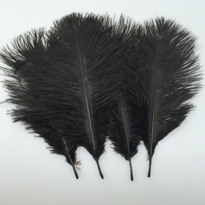 Natural Black Ostrich Feathers Plume Wedding Centerpieces Home Decoration 20 PC
