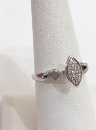 Marquise style Diamond Engagement Wedding  Ring Setting 10K White Gold