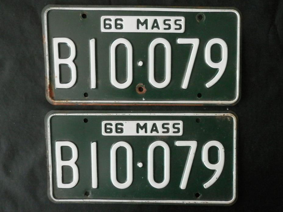 1966 Massachusetts License Plates  B10-079