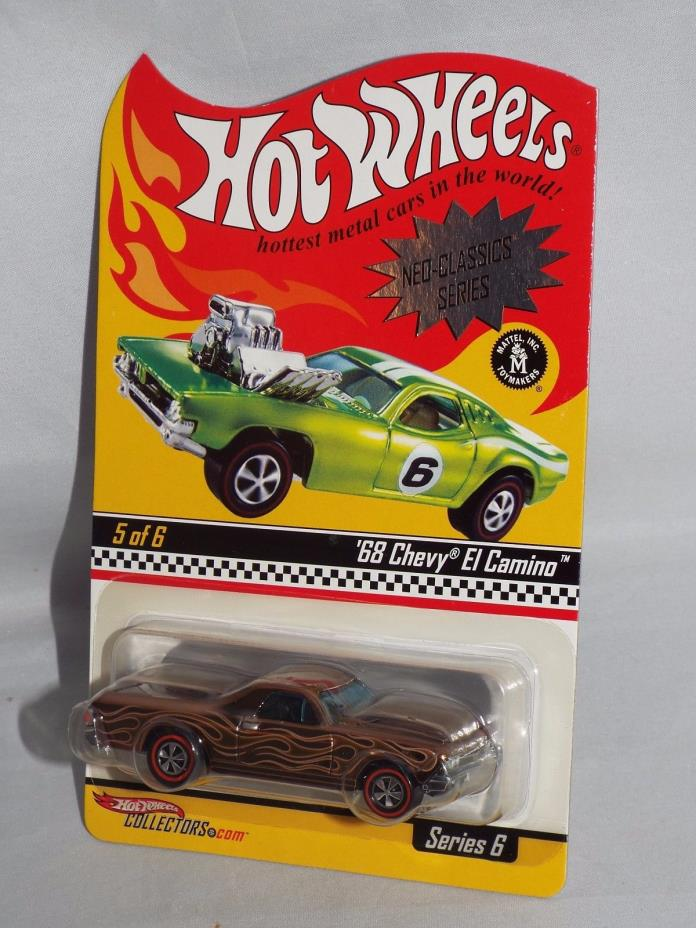 Hot Wheels 2007 RLC HWC Neo-Classics Series 6 '68 Chevy El Camino Brown #02059